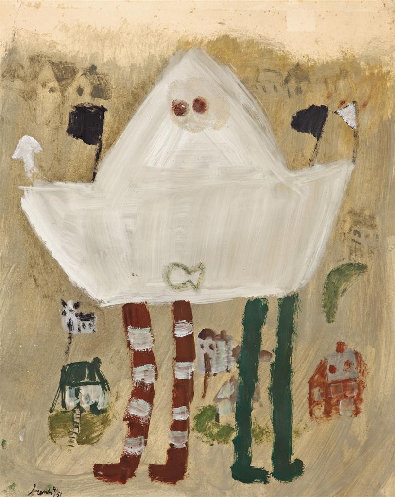 Eugene Brands-Abstracte Compositie III (Abstract Composition III)-1951