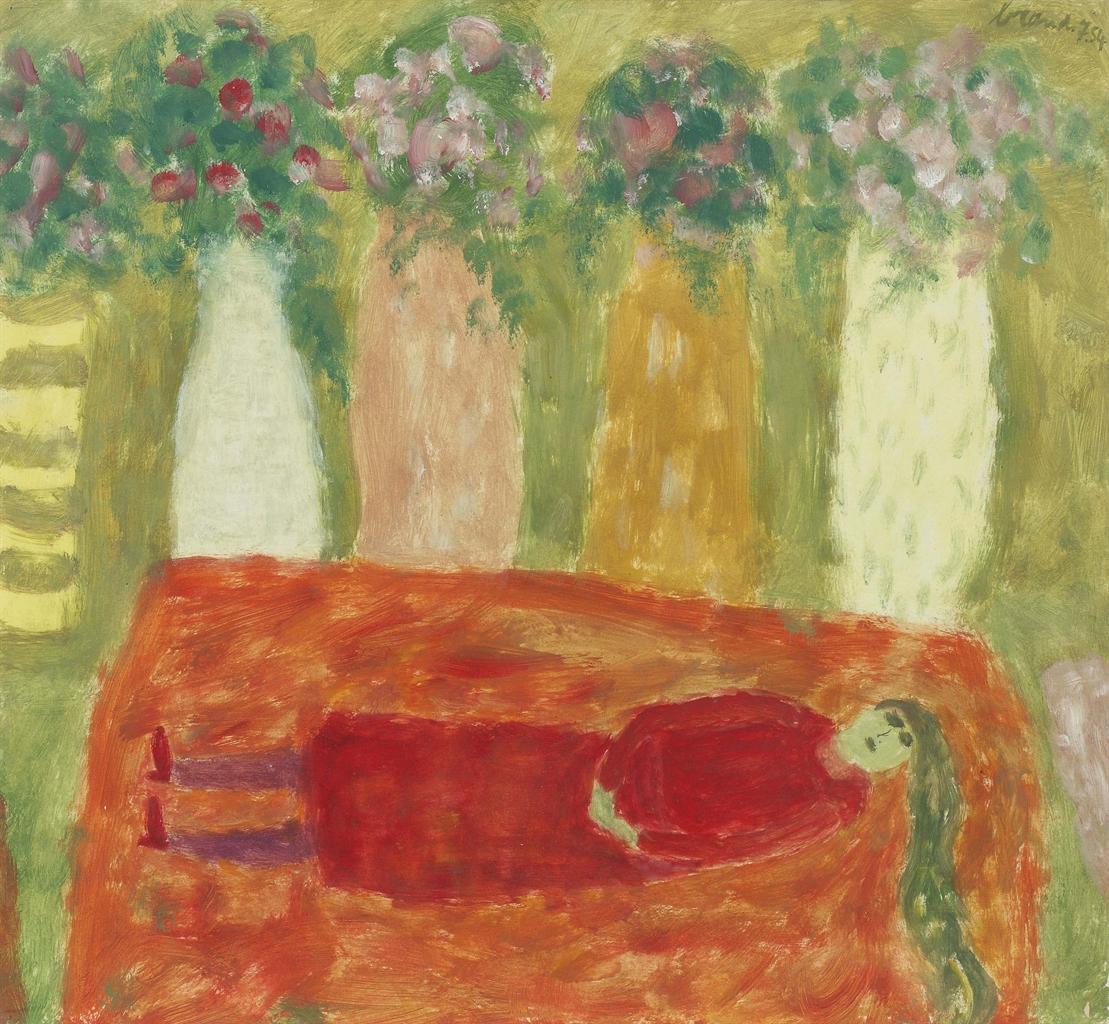 Eugene Brands-Rustende Vrouw II (Resting Woman II)-1954