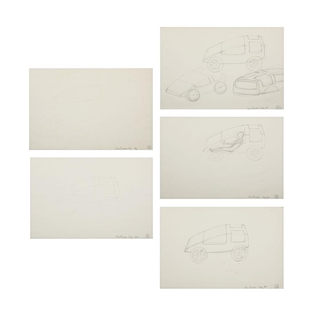 Chris Burden-Untitled (Designs For B-Car)-1975