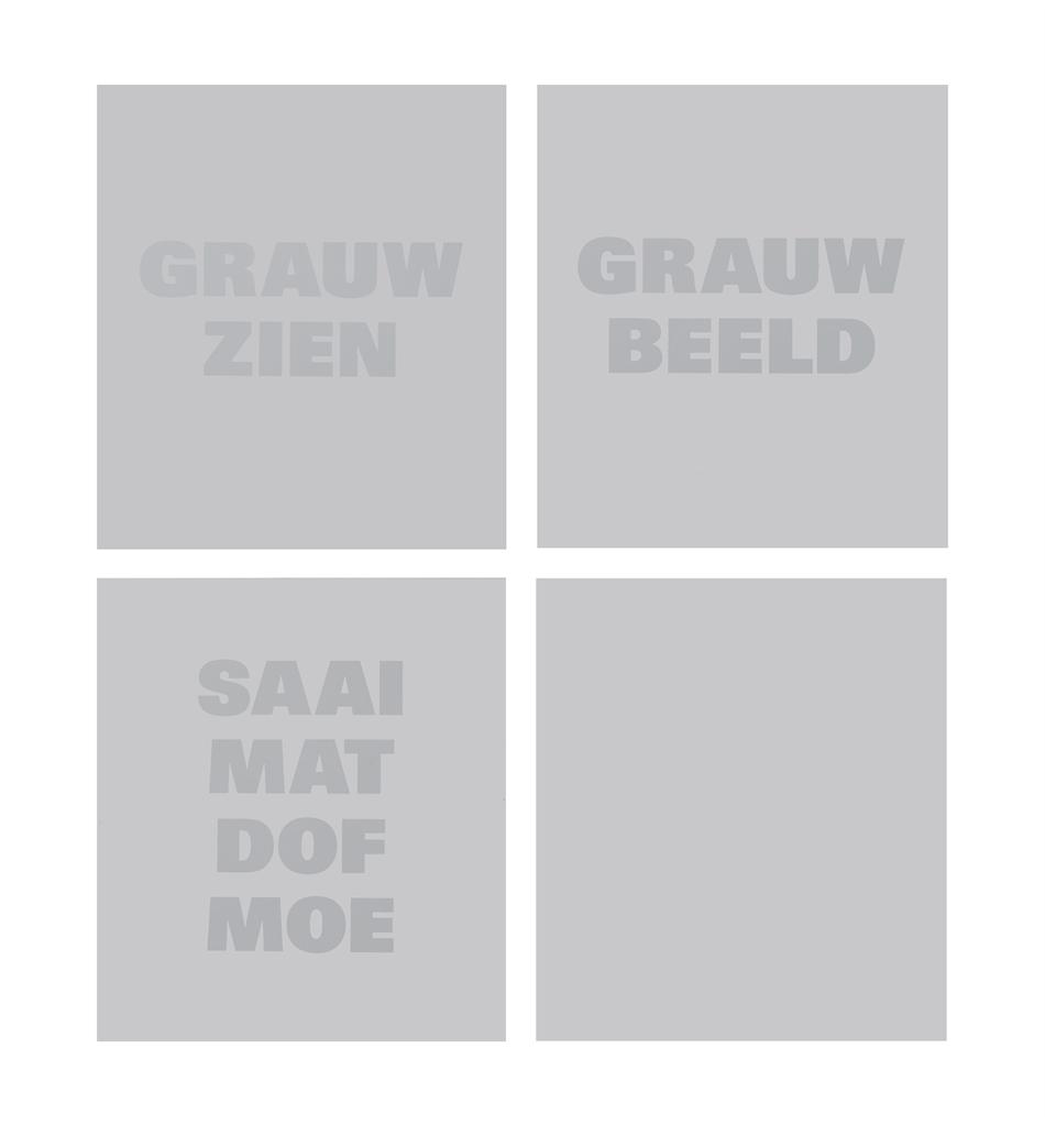 Remy Zaugg-Grauw Zien, Grauw Beeld, Saai Mat Dof Moe (Bleak Look, Bleak Image, Drab Matte Dull Tired)-1993