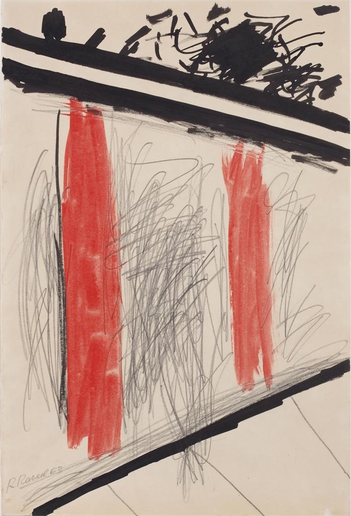 Roger Raveel-Treedbinnen, Ne Restez Pas En Arret Devant 'La Fenetre' Mais Entrez (Come In, Do Not Stay In Front Of 'The Window' But Enter)-1963