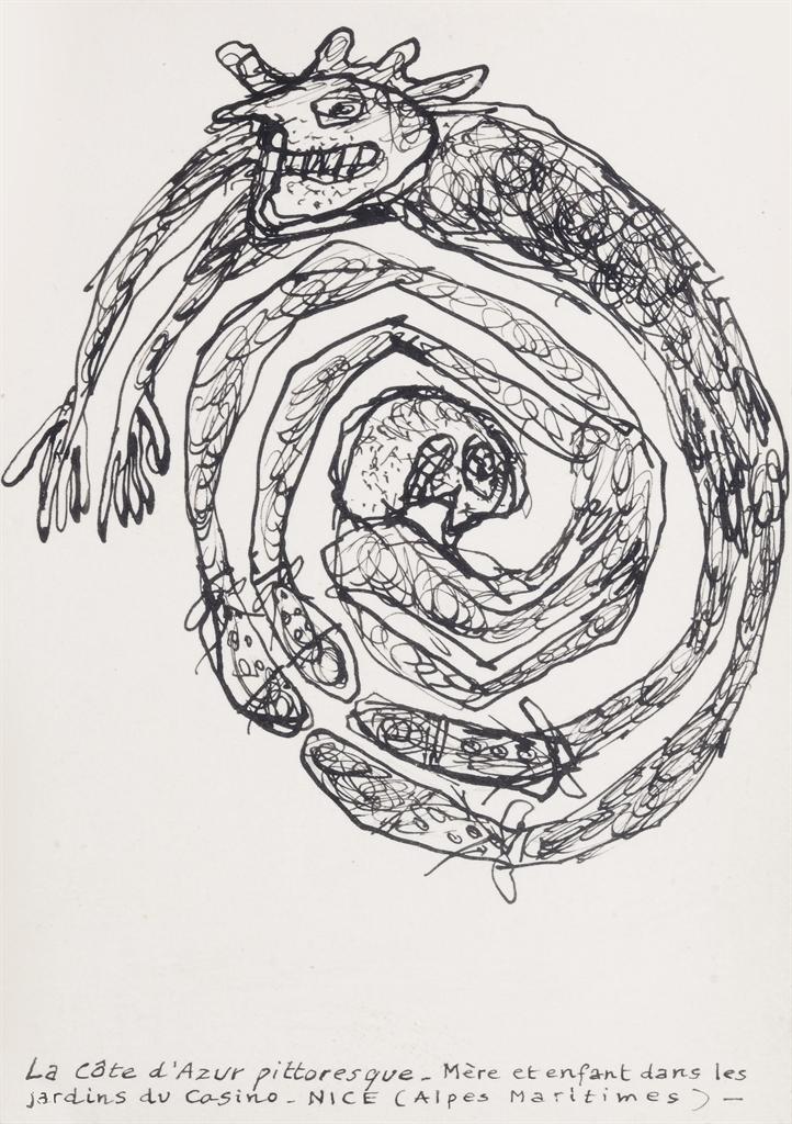 Jean Dubuffet-La Cote Dazur Pittoresque (Picturesque Cote Dazur)-1960