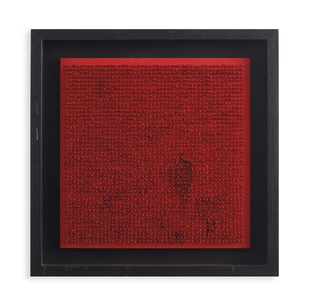Bernard Aubertin-Tableau Clous (Nail Painting)-1970