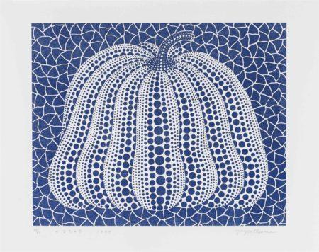 Yayoi Kusama-Pumpkin (Blue)-1999