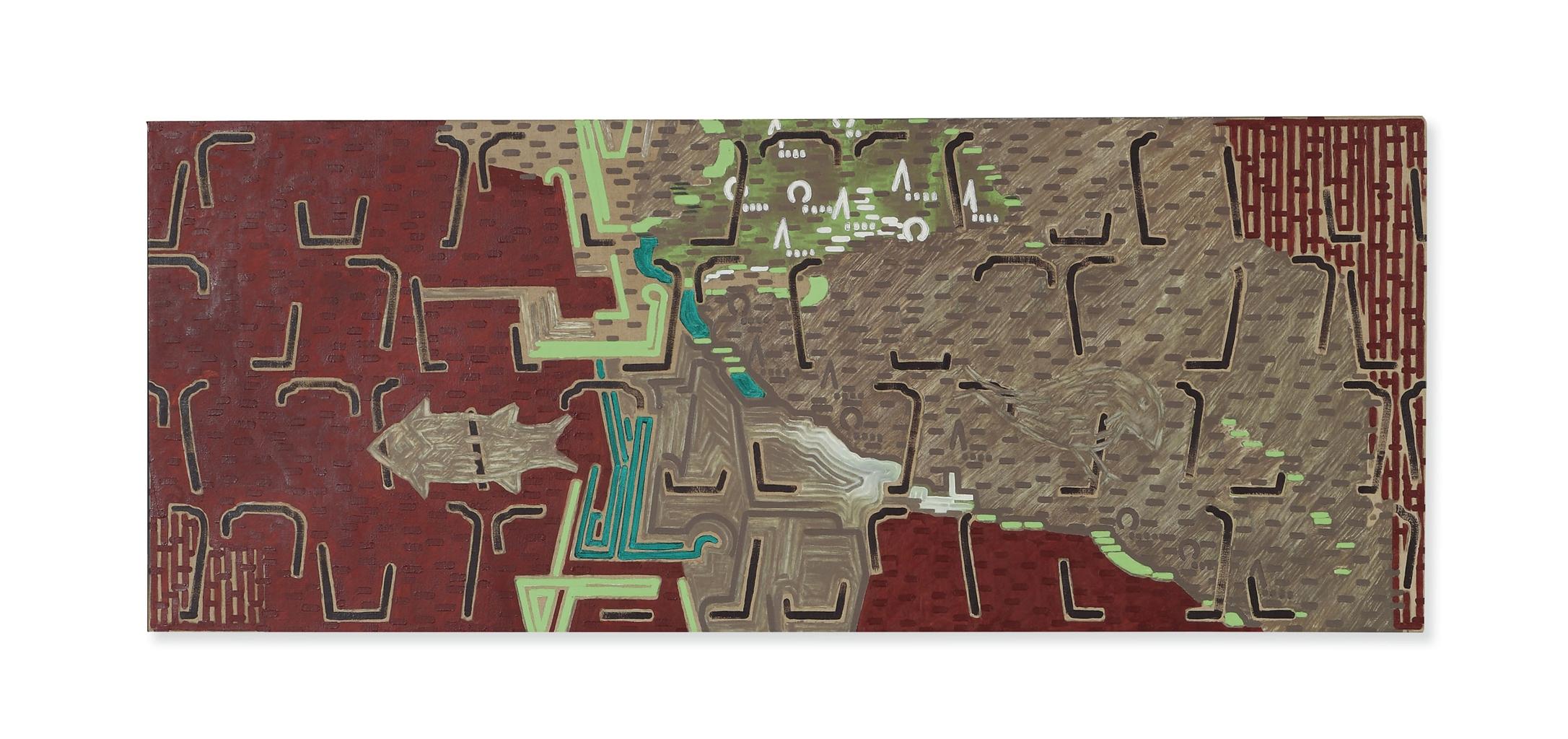 Axel Kassebohmer-Stilleben Mit Landkarte (Still Life With Map)-1989