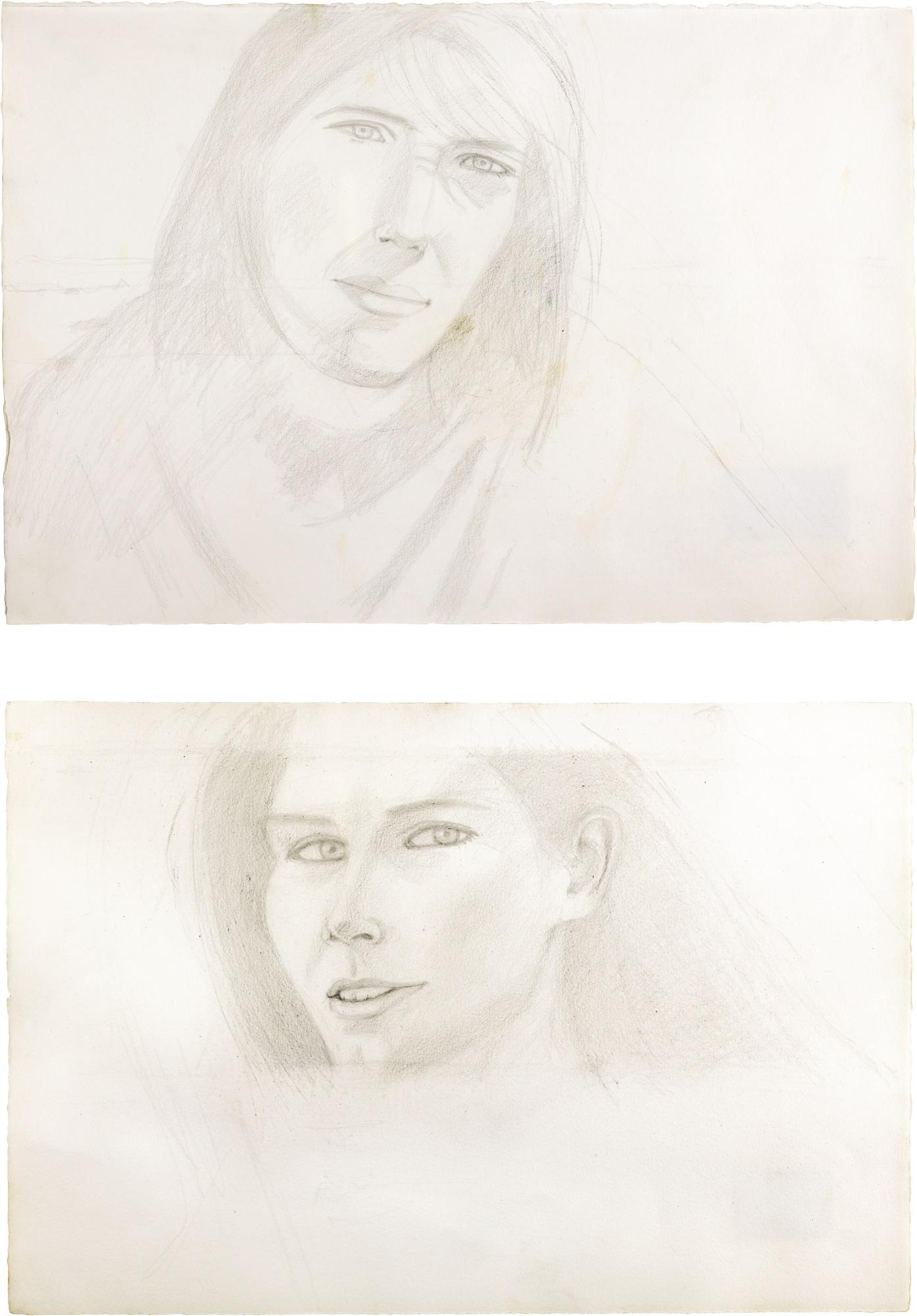 Alex Katz-(i) Linda (ii) Untitled-1989