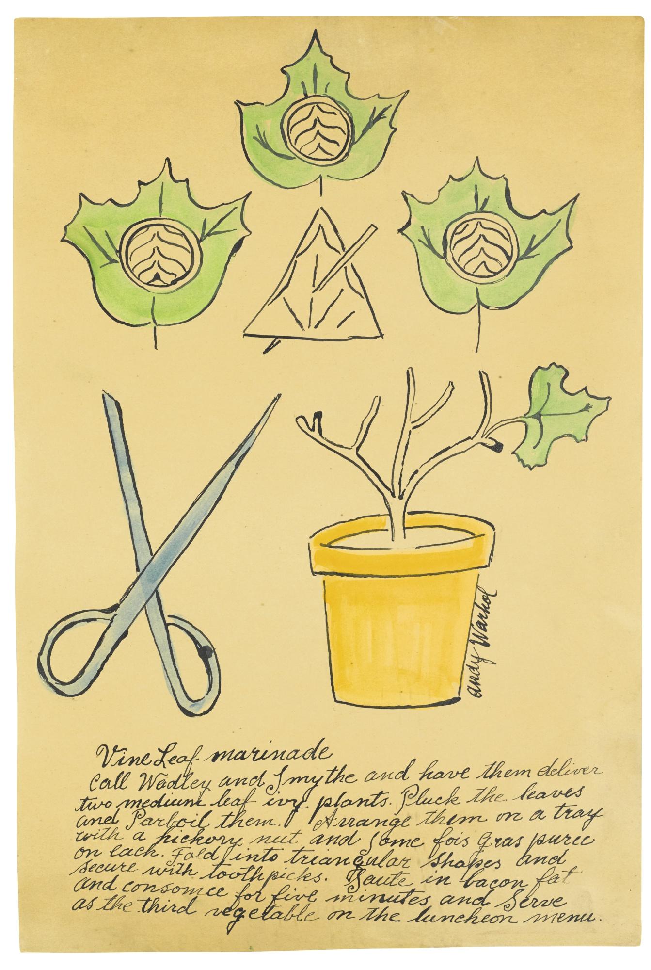 Andy Warhol-Vine Leaf Marinade-1959
