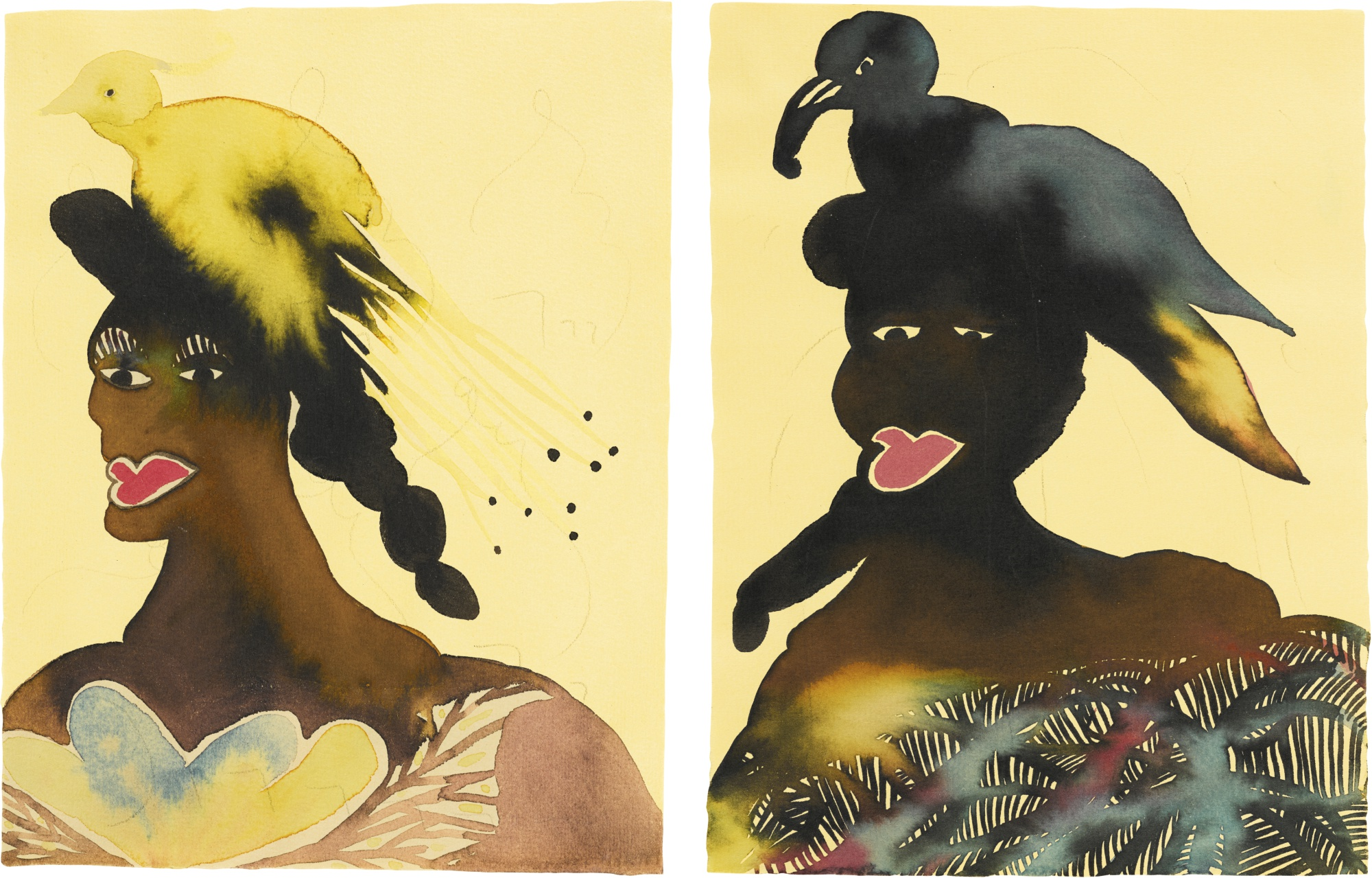 Chris Ofili-Untitled (Two Works)-2001