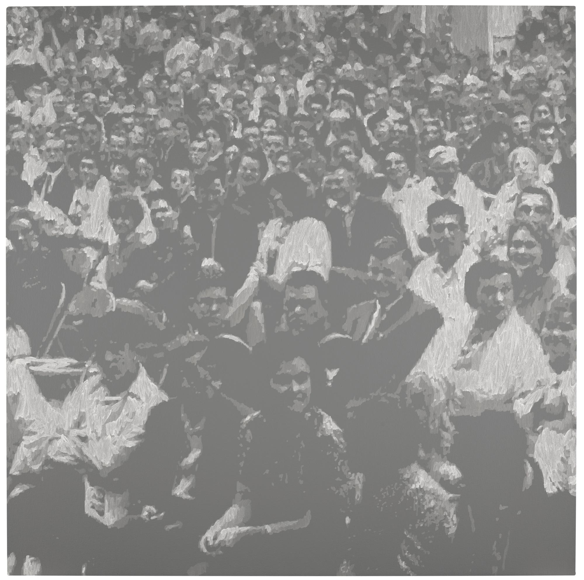 Wayne Gonzales-Seated Crowd-2008