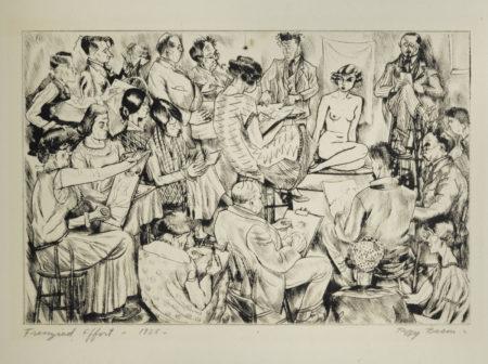 Peggy Bacon - Frenzied Effort-1925