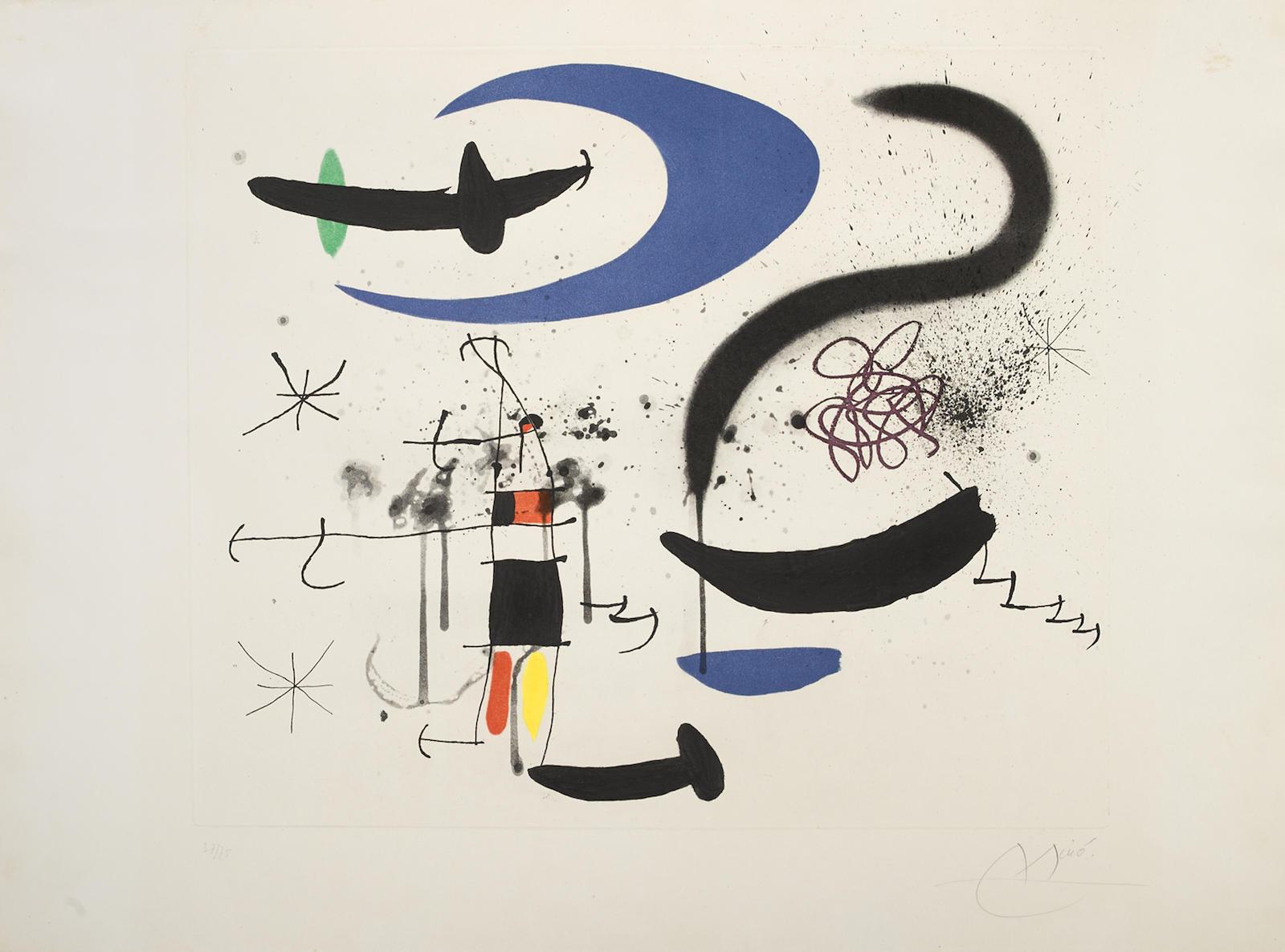 Joan Miro-Lescalier De La Nuit (D. 536)-1970