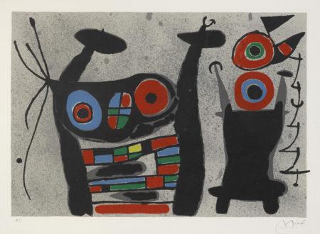 Joan Miro-Pl. 14, From Le Lezard Aux Plumes Dor (M. 824; C. Bk. 148)-1970