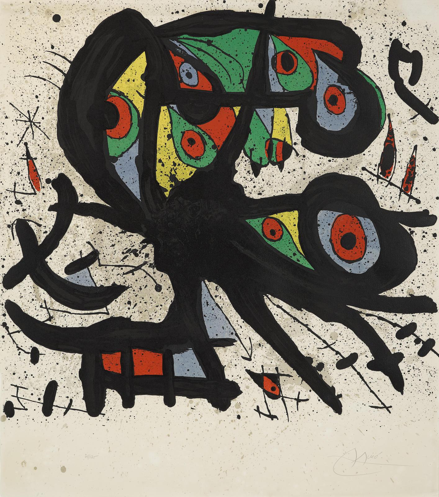 Joan Miro-Agora I (M. 704; P. 47)-1971