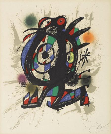 Joan Miro-Pl. 2, From Joan Miro Lithographs III (M. 1113; C. Bk. 230)-1977