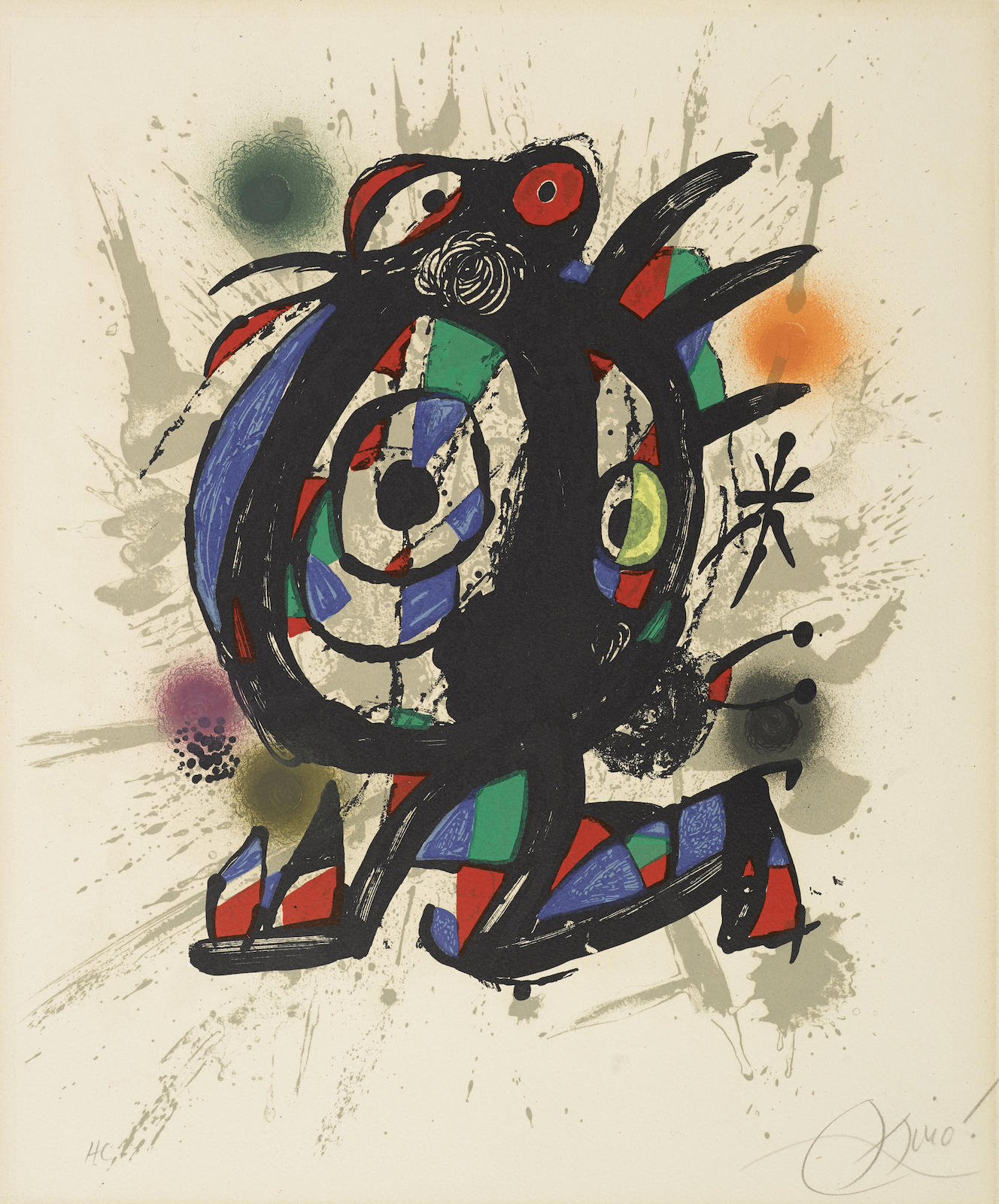 Joan Miro-Pl. 2, From Joan Miro Lithographs III (M. 1113; C. Bk. 230)-1977