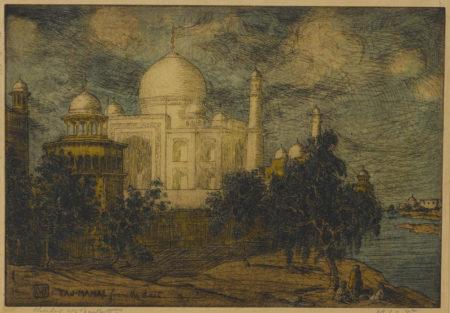 Charles William Bartlett - Taj Mahal From The East-1916