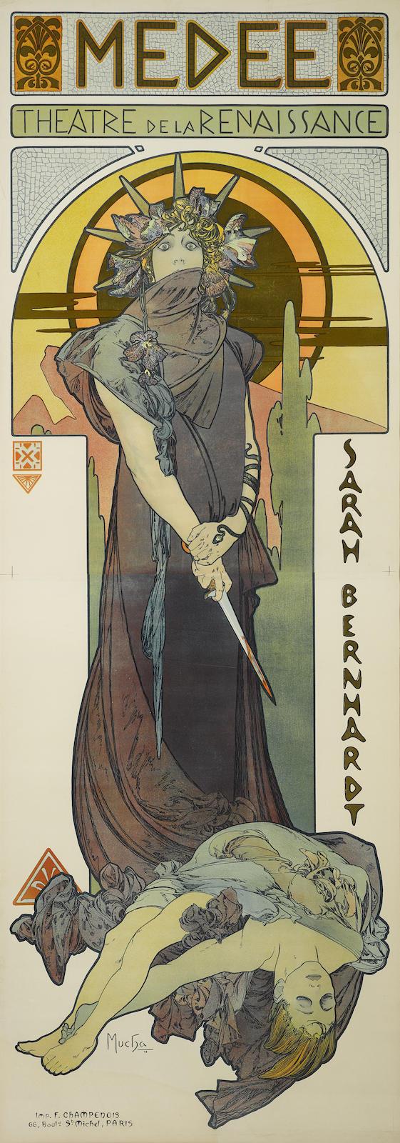 Alphonse Mucha-Medeemedee (R./W. 53)-1898