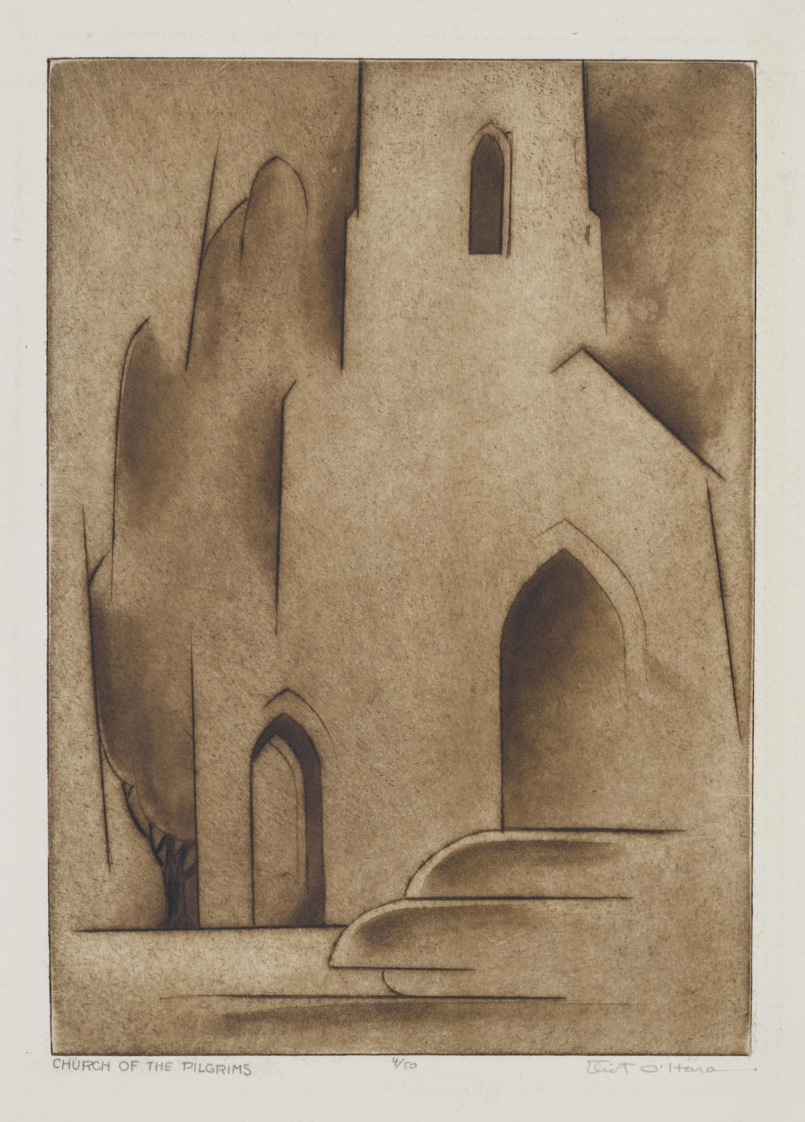 Eliot O'Hara-Church Of The Pilgrims-1950