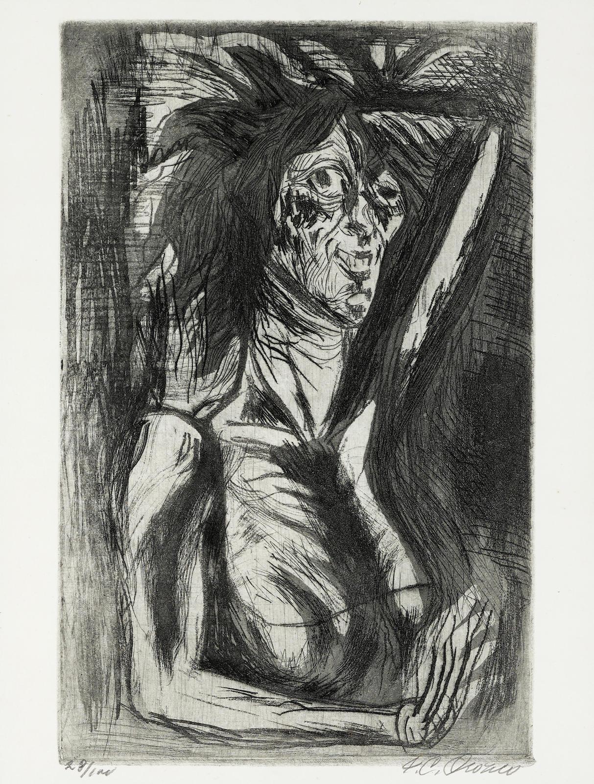 Jose Clemente Orozco-La Loca (H. 38)-1944