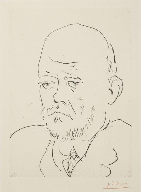 Pablo Picasso-Portrait De Vollard IV, Pl. 100, From La Suite Vollard (B. 233; Ba. 619)-1937