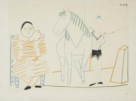 Pablo Picasso-Untitled (Horse And Two Figures), From Verve: Volume VIII, 29-30 (Not In Cramer)-1954