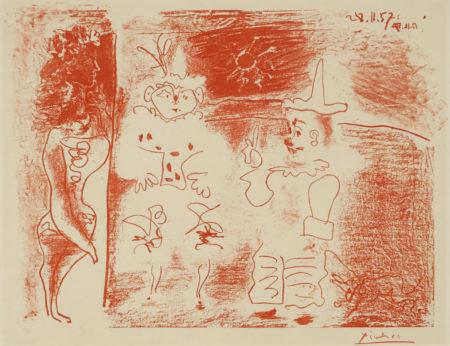 Pablo Picasso-Lecuyere Et Les Clowns (B. 842; M. 304)-1957