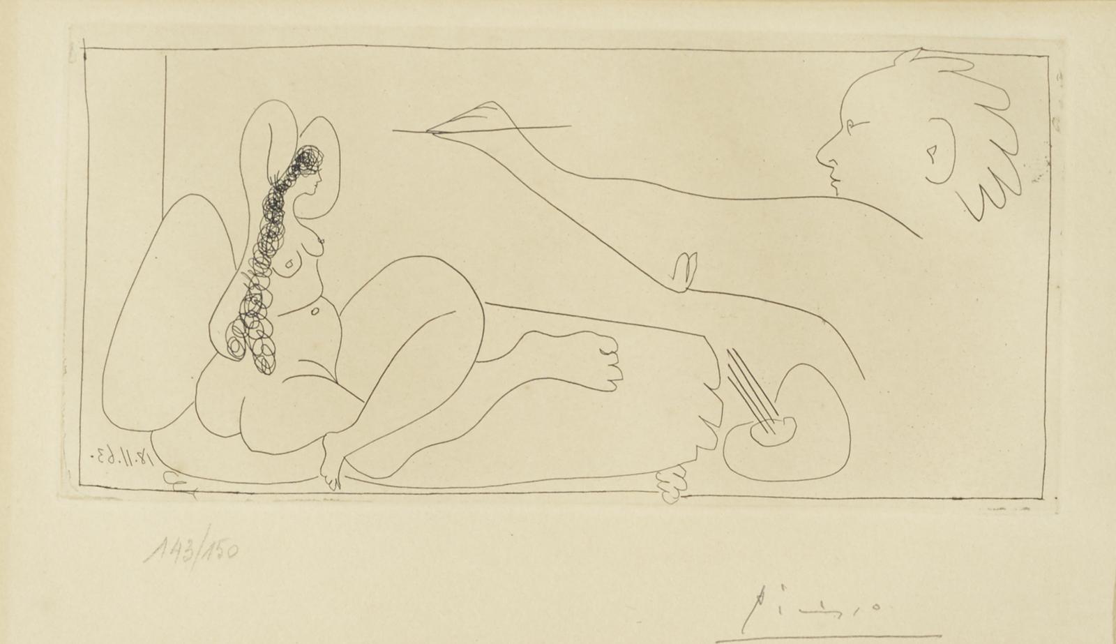Pablo Picasso-Dames De Mougins (B. 1131; Ba. 1128)-1963