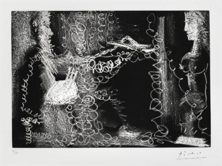 Pablo Picasso-Peintre Et Modele De Profil (B. 1401; Ba. 1373)-1966