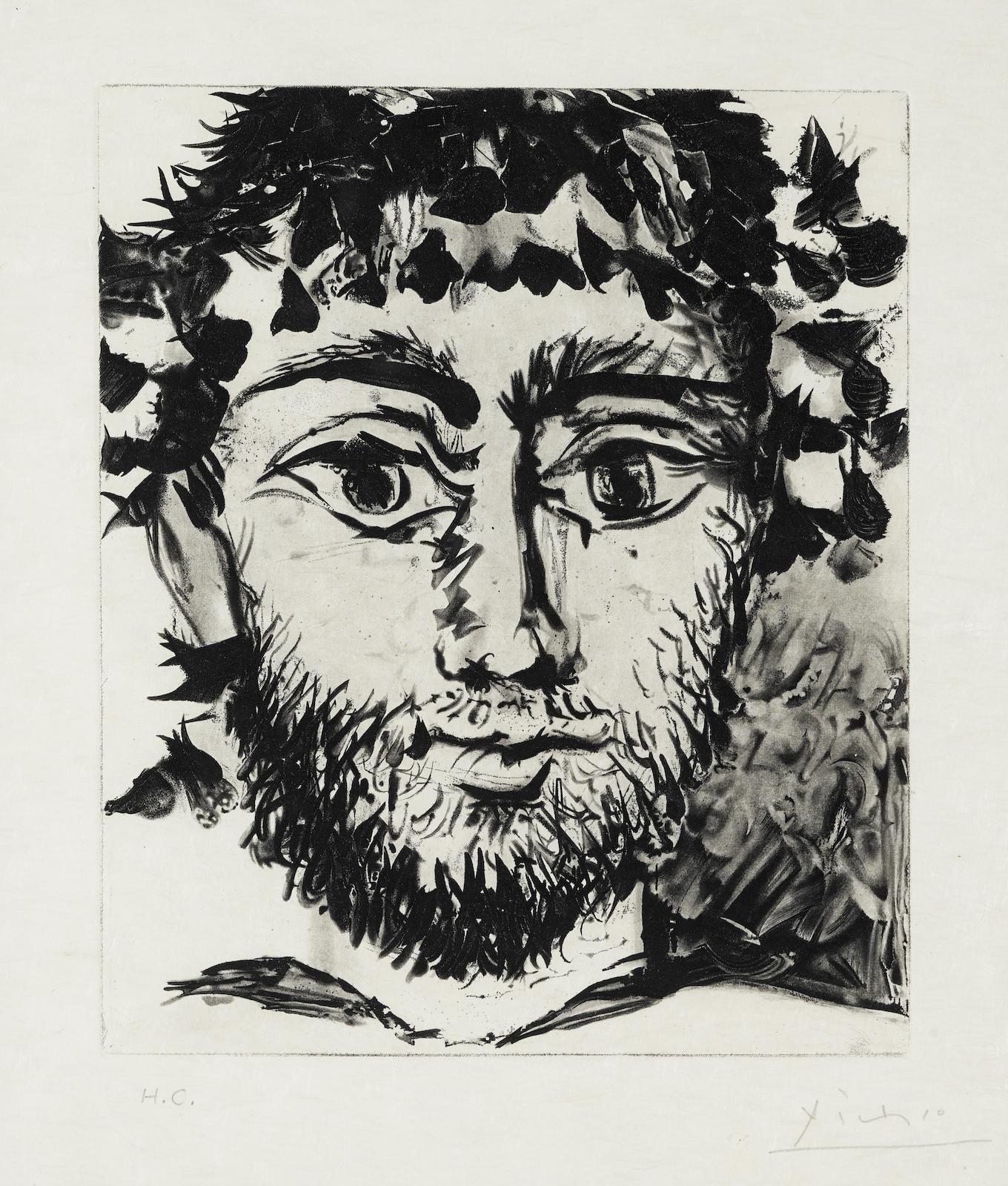 After Pablo Picasso - Tete De Faune-1958