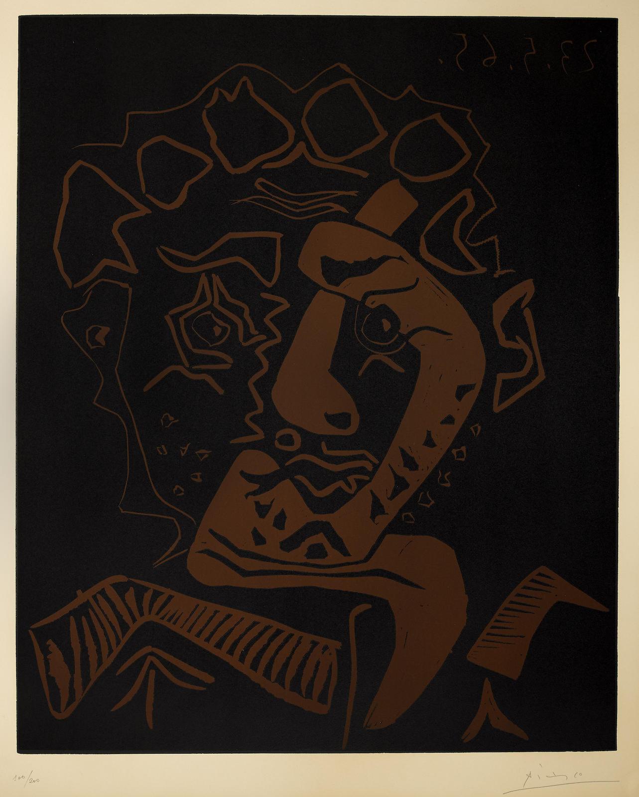 Pablo Picasso-Le Danseur (Tete Dhistrion) (B. 1849; Ba. 1360)-1965