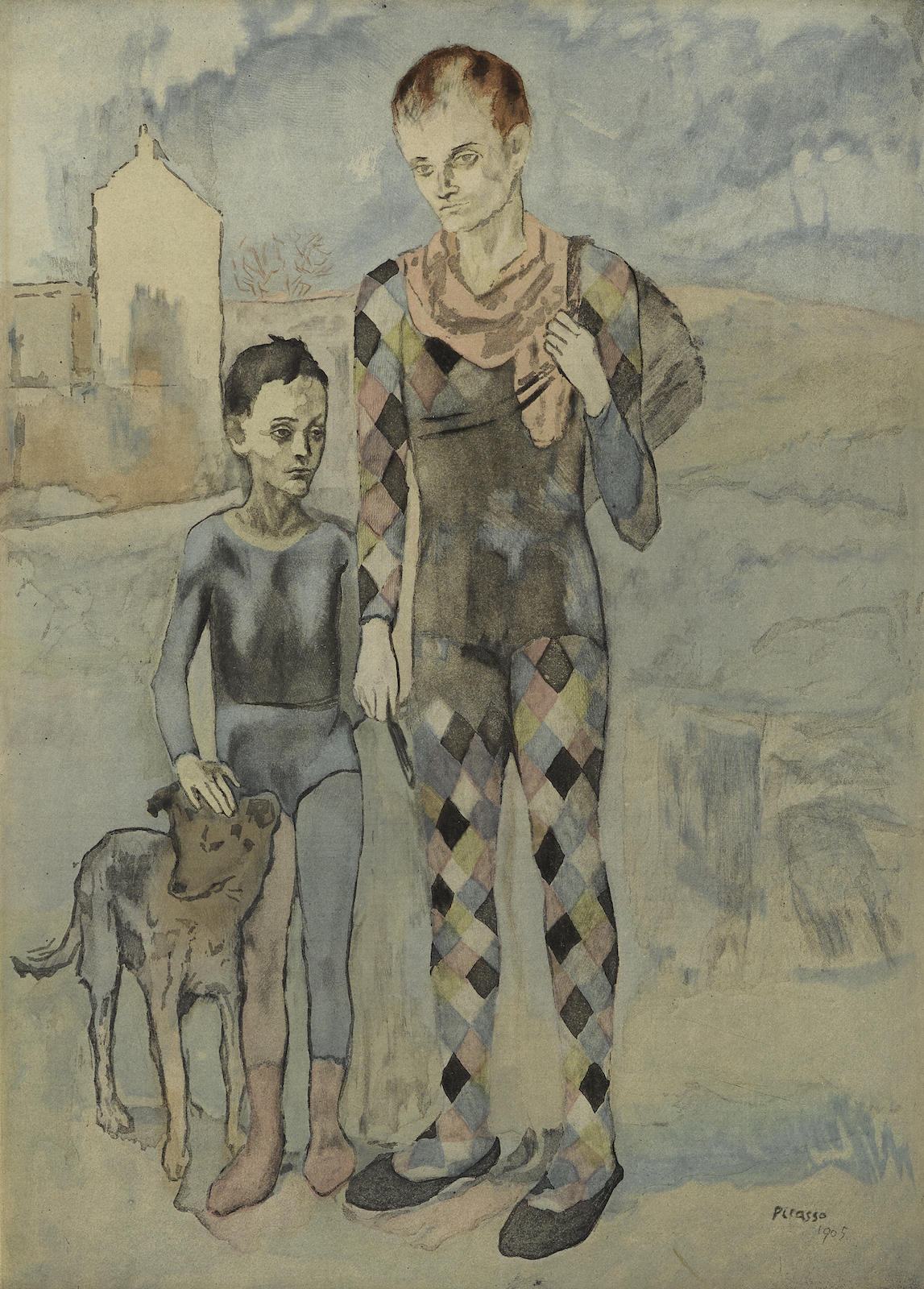 Pablo Picasso-After Pablo Picasso - Les Saltimbanques (G./P. E634)-1922