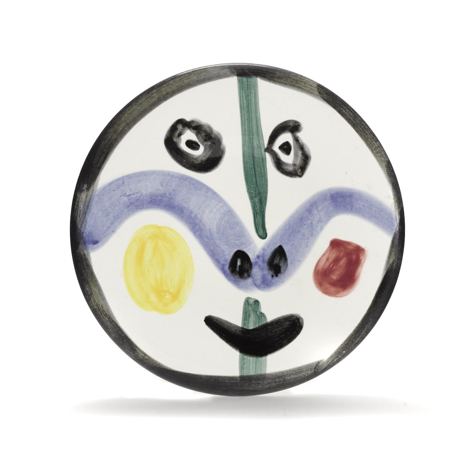 Pablo Picasso-Face No. 0 (A.R. 458)-1963