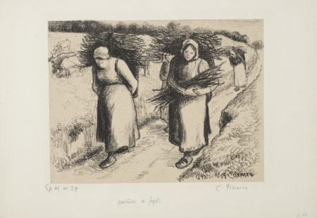 Camille Pissarro-Porteuses De Fagots-1896