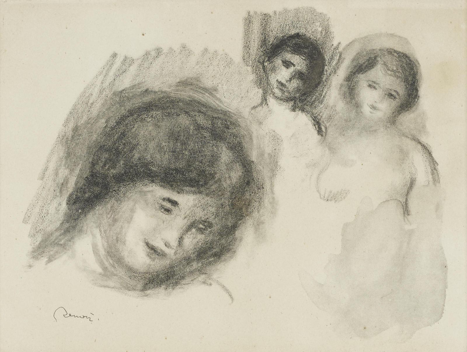 Pierre-Auguste Renoir-La Pierre Au Trois Croquis (D.; S. 41)-1904