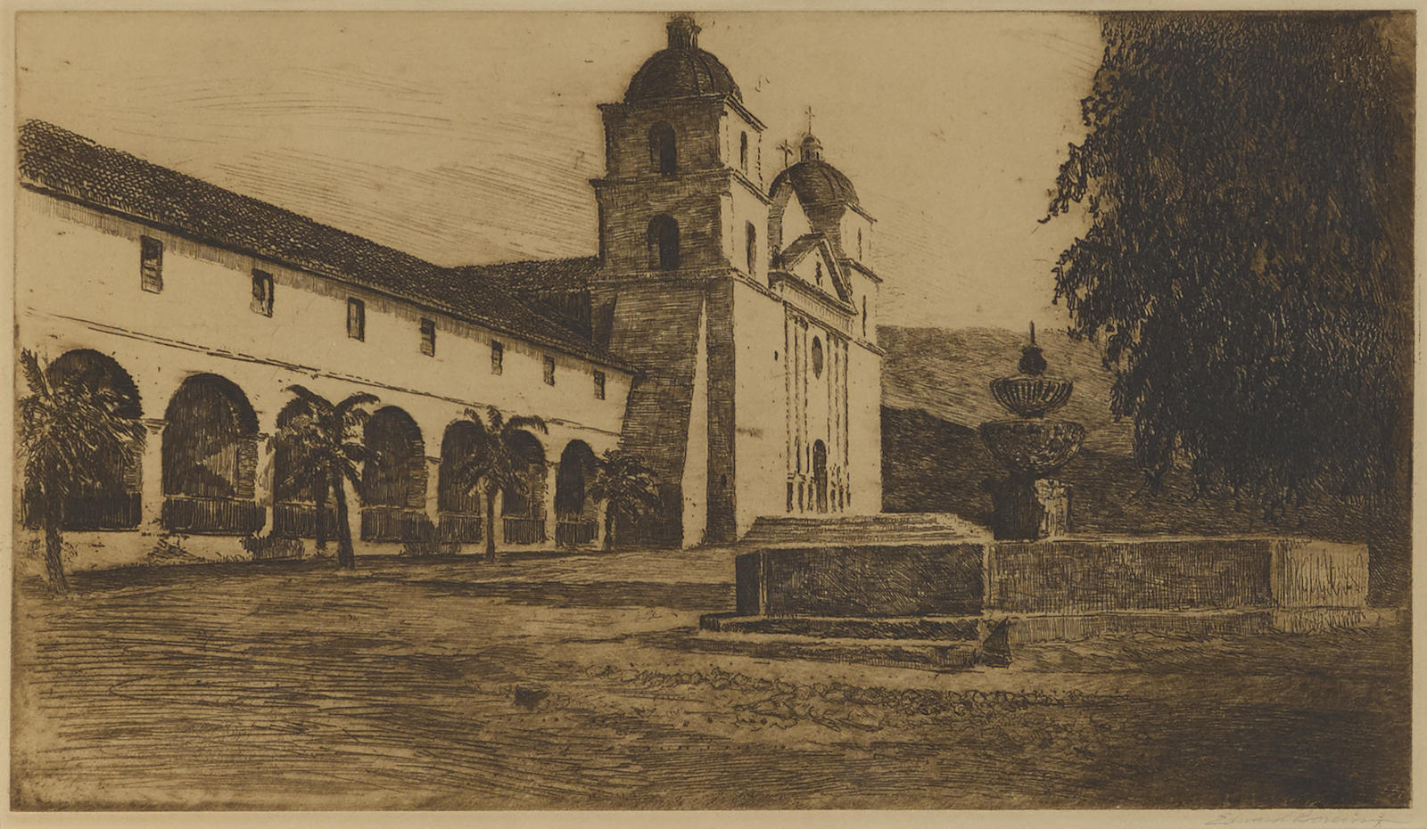 Edward Borein-Mission Santa Barbara, No. 3 (G. 250)-