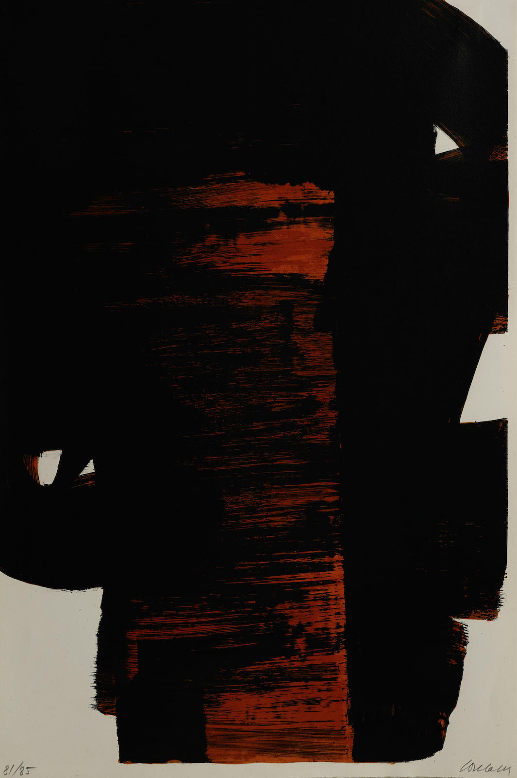 Pierre Soulages-Lithograph No. 26-1968