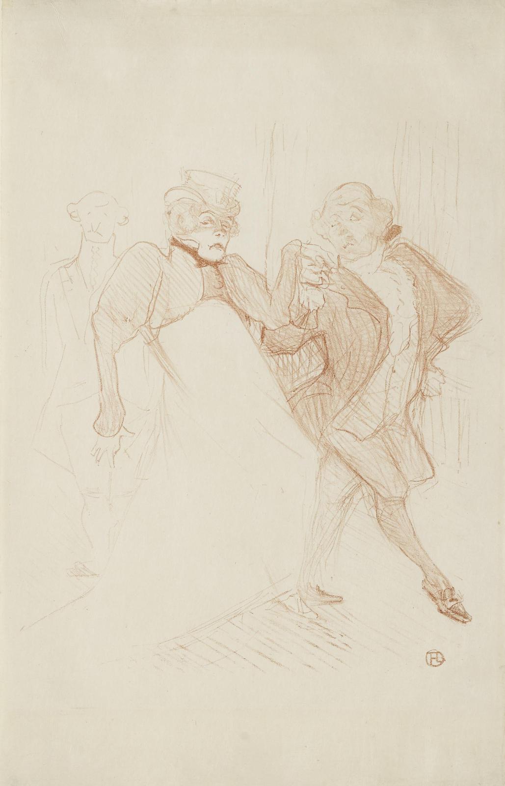 Henri de Toulouse-Lautrec-Rejane Et Galipaux, Dans Madame Sans-Gene (W. 44; D. 52; Adr. 56)-1893