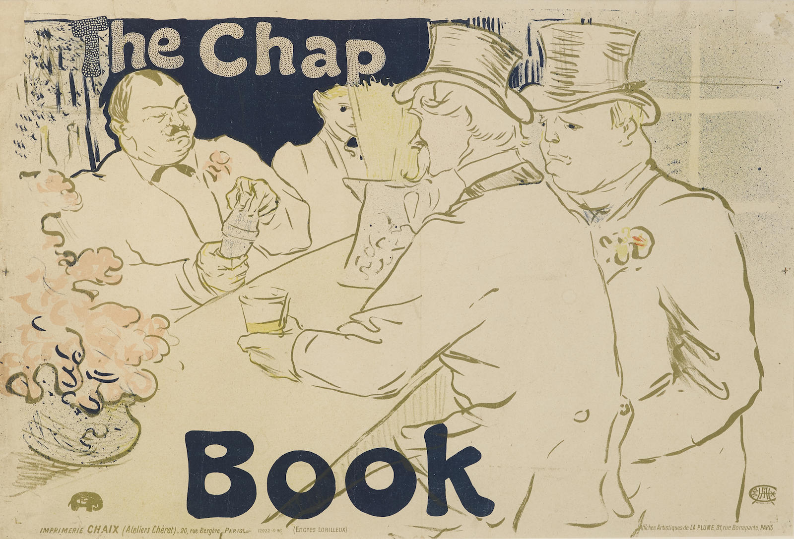 Henri de Toulouse-Lautrec-Irish And American Bar, Rue Royale-The Chap Book (W. P18; D. 362; Adr. 139)-1895