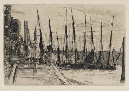 James Abbott McNeill Whistler-Billingsgate; Girl With Bowl 2 (K. 47; L. 121)-1895