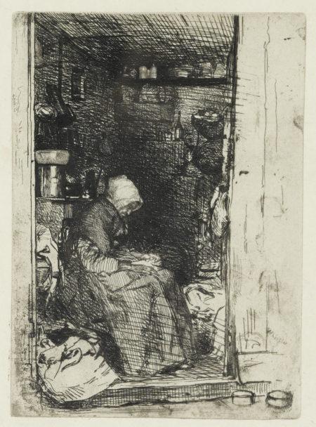James Abbott McNeill Whistler-La Vieille Aux Loques (K. 21; U Of G 27)-1858