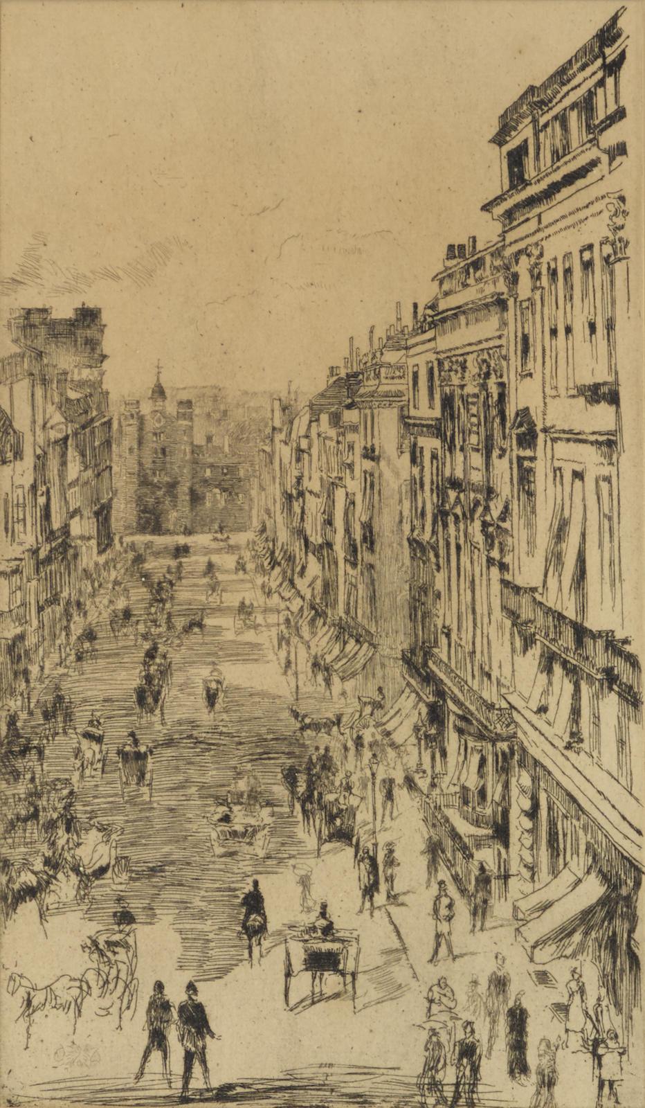 James Abbott McNeill Whistler-St. Jamess Street (K. 169)-1878