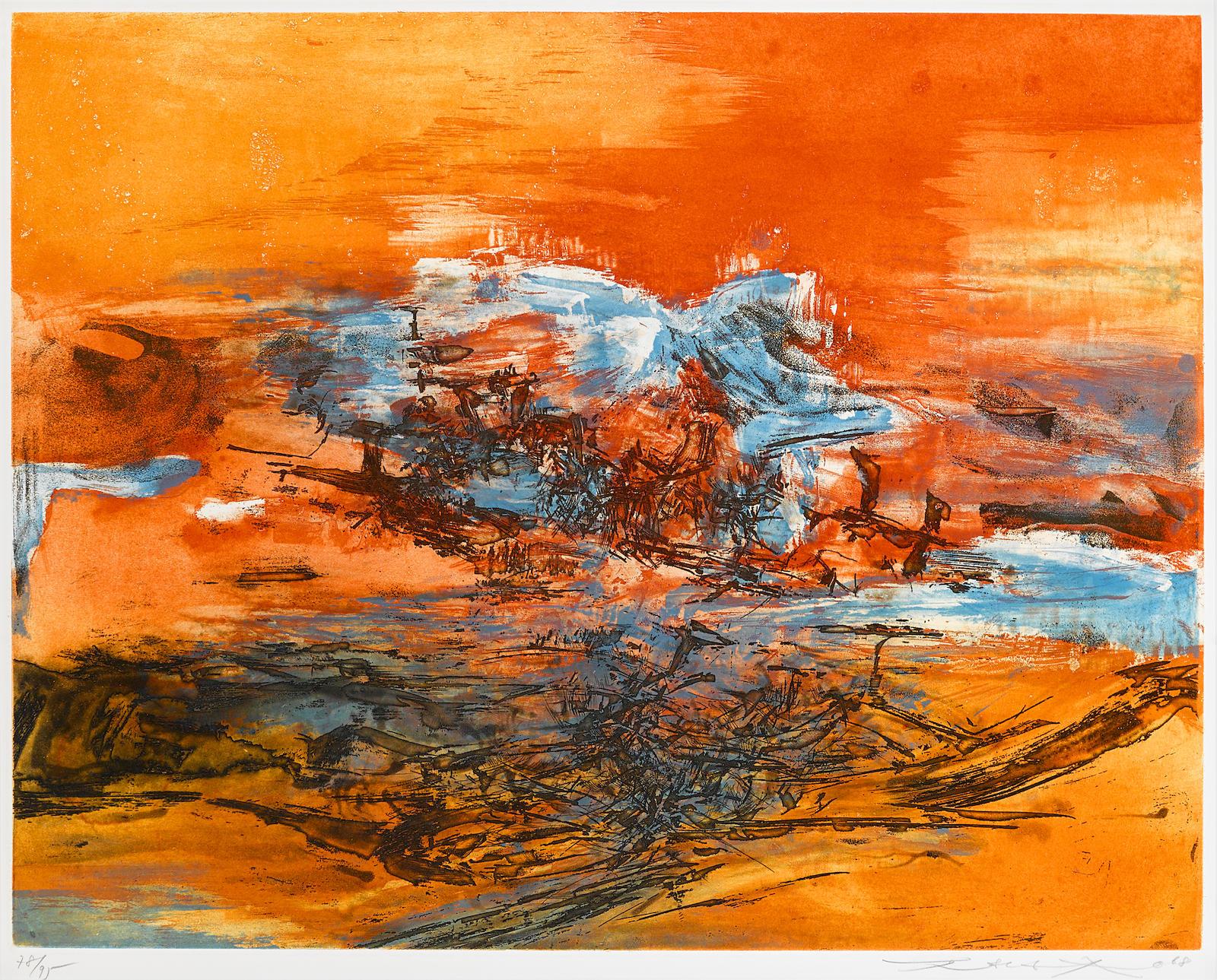 Zao Wou-Ki-Joui Letejoui Lete (A. 196)-1968