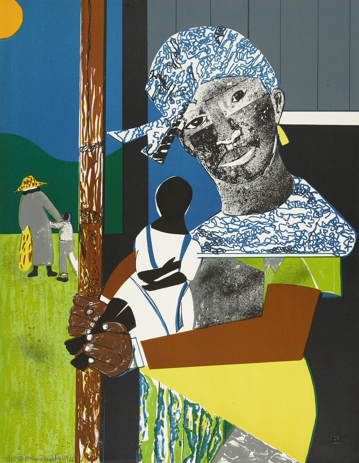 Romare Bearden-Come Sunday, From 1776 USA (Gr. 77)-1975