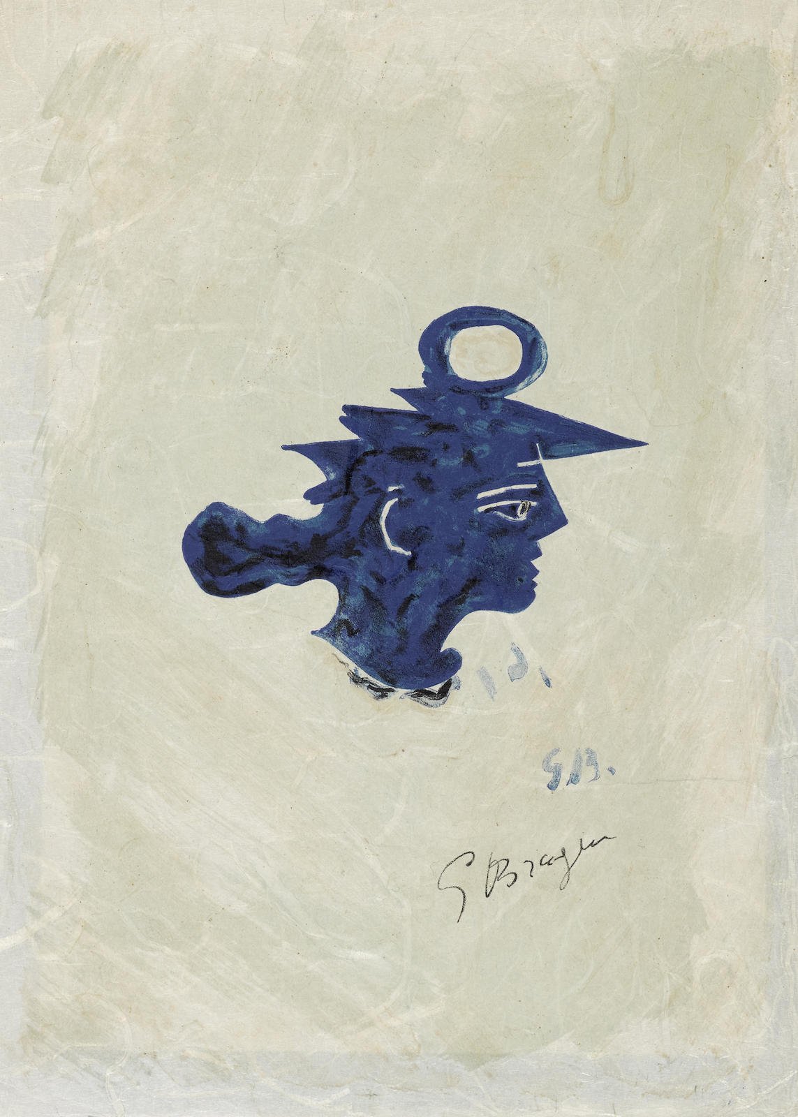 Georges Braque-Tete Grecque-