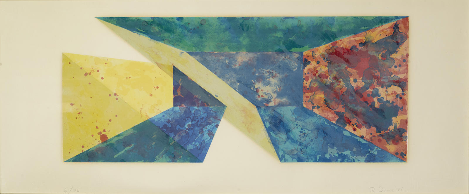 Ron Davis-Diagonal Slice, From Rectangle Series; Yellow Slab (G. 366; 1125)-1983