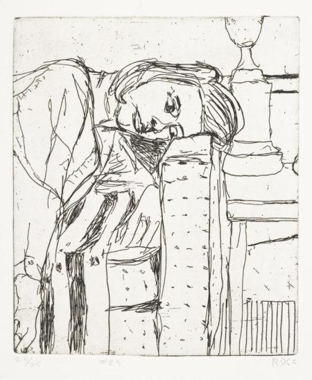 Richard Diebenkorn-#25, From 41 Etchings Drypoints-1965