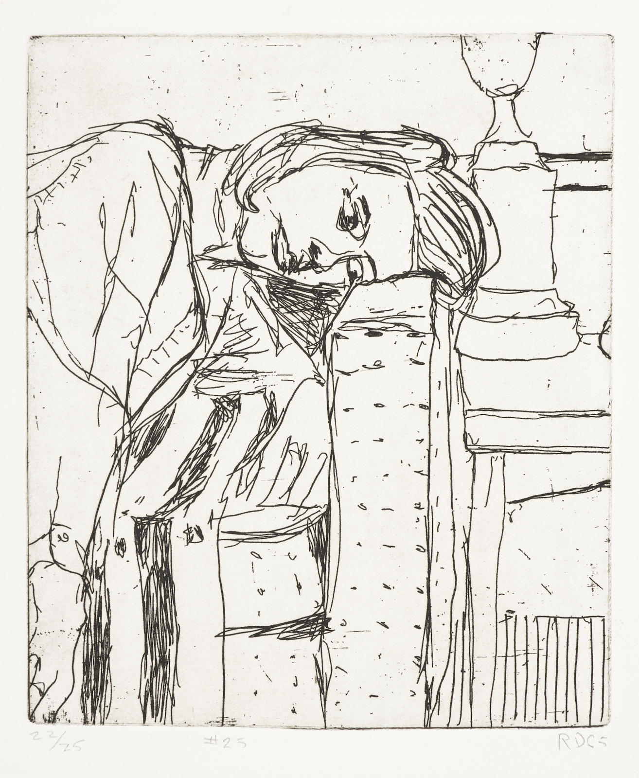 Richard Diebenkorn-#25, From 41 Etchings Drypoints-1965