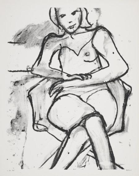 Richard Diebenkorn-4 Prints, From Seated Woman Series-1965