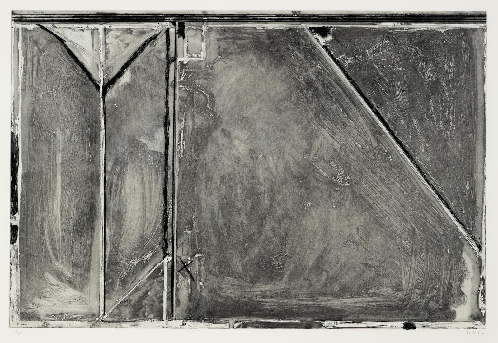 Richard Diebenkorn-Folsom Street Variations II (Gray)-1986