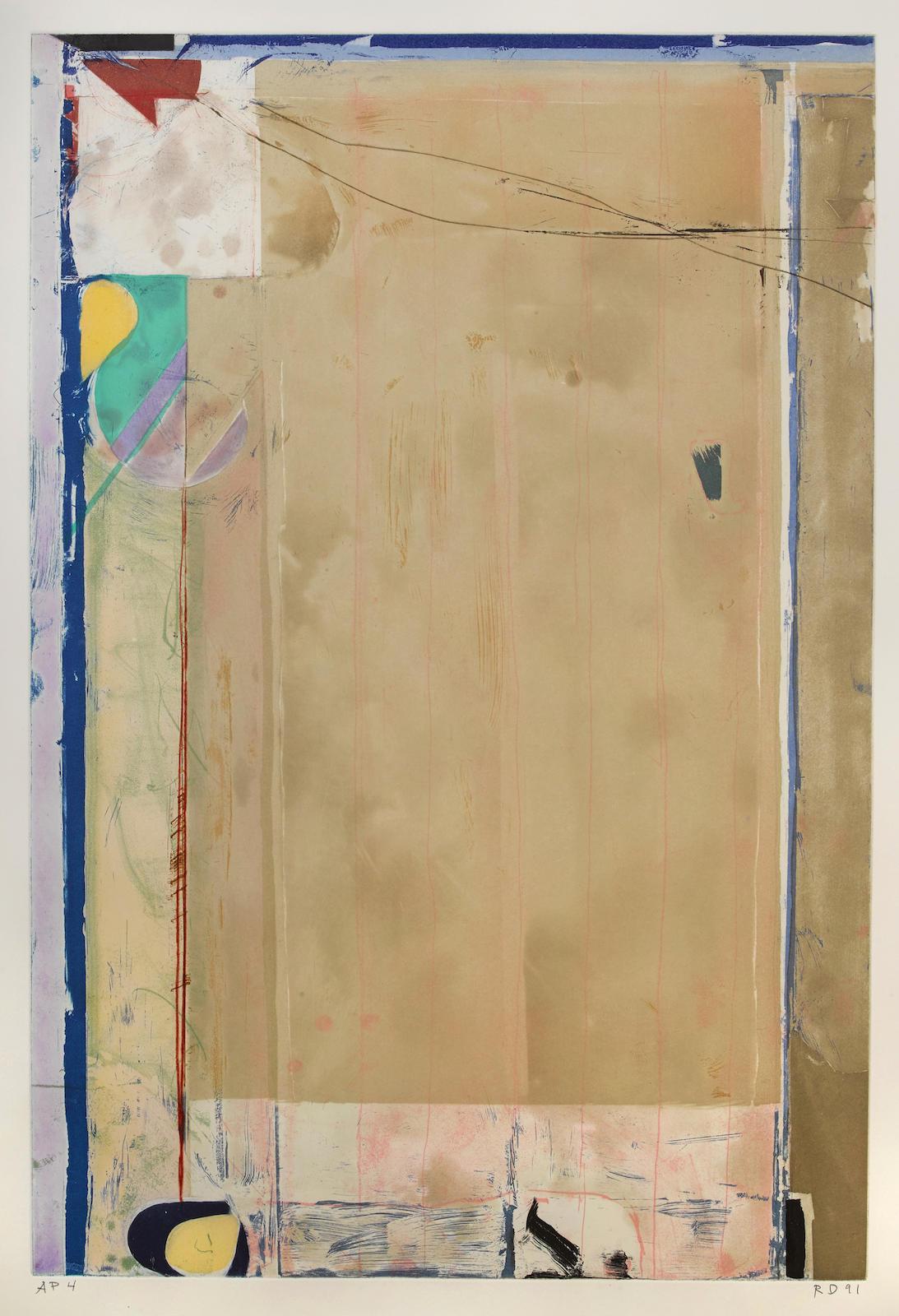 Richard Diebenkorn-Touched Red-1991